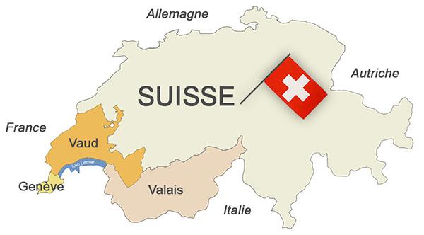 Les régions viticoles du Chasselas en Suisse