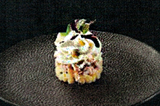 Pommes de terre au Chasselas, féra fumée et vacherin Mont-d'Or